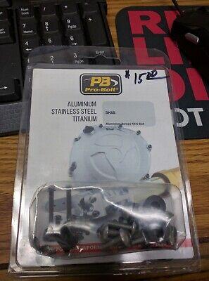 Pro Bolt - SK6-S - Aluminum Windscreen Screw Kit, Silver/5mm 6 Bolt Kit