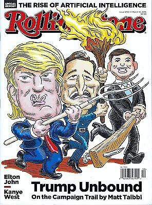 NEW Rolling Stone Magazine Donald Trump Unbound 2016 No Mailing Label president