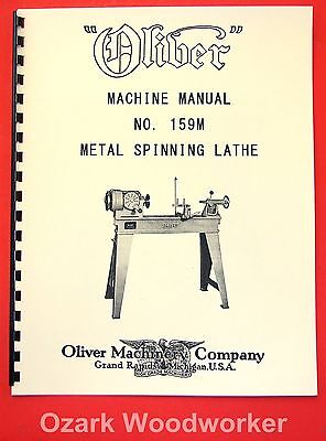 Oliver No. 195m Metal Spinning Lathe Owners And Parts Manual 1077