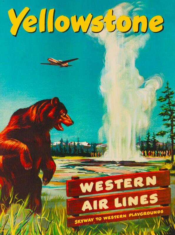 Yellowstone Wyoming United States America Vintage Travel Advertisement Poster 5