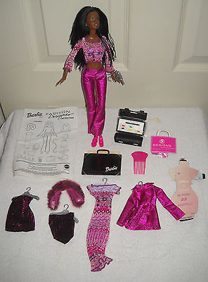 #9418 New No Box Mattel Fashion Designer African American Barbie Doll