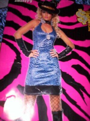 Damen Leoparden Pimp Lady Kostüm Sexy Animal Gangster - Lady Gangster