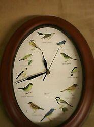 Quartz Bird Clock - Oval Shape  missing battery cover