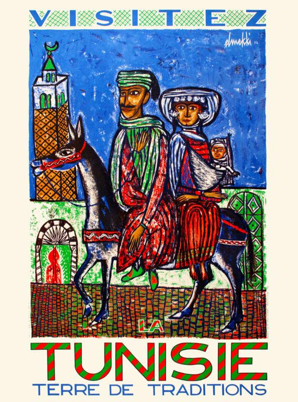 Visitez Tunisia Tunisie Africa African Travel Poster Advertisement Art Print