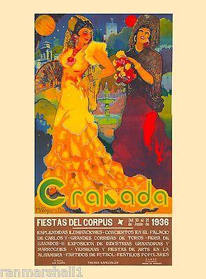1936 Fiestas del Corpus Spain Spanish Vintage Travel Advertisement Poster