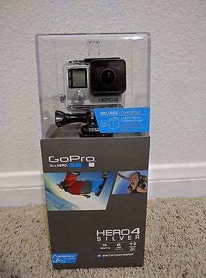 Brand new! GoPro HD Hero4 Silver Action Camcorder + Dual Charger + 16GB MicroSD