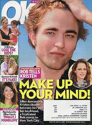 Robert Pattinson Kristen Stewart Ok Weekly Magazine June 22  2009 6 22 09  C 2 1