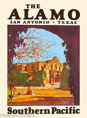 The Alamo San Antonio Texas United States America Travel Advertisement Poster