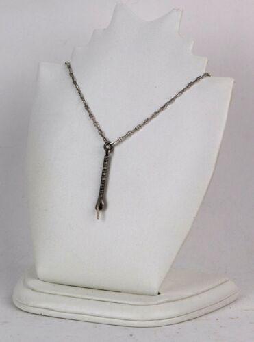 ANTIQUE Pointer for TORAH Jad JUDAISM Old Yad VINTAGE Chain STERLING Silver 925