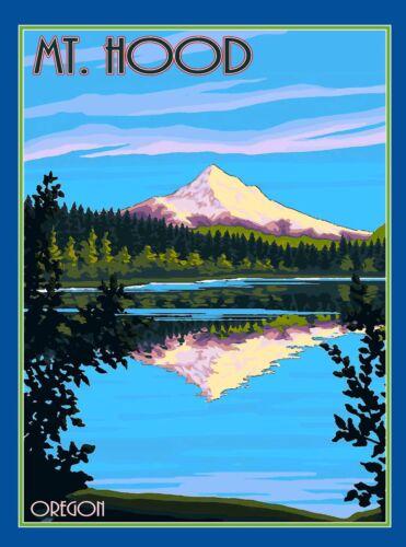 Mt. Mount Hood Oregon United States America Travel Art Poster Advertisement