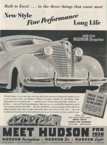 1938 Hudson Automobiles Original Advertisement:  Terraplane Featured