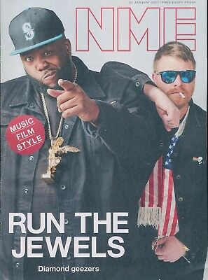 NME Magazine January 20 2017 Run The Jewels Loyle Carner Donald Trump Tom Daley