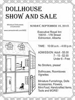 Dollhouse Show and Sale Sunday September 16th