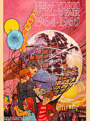 1964 New York City World's Fair United States Travel Advertisement Art Poster 2