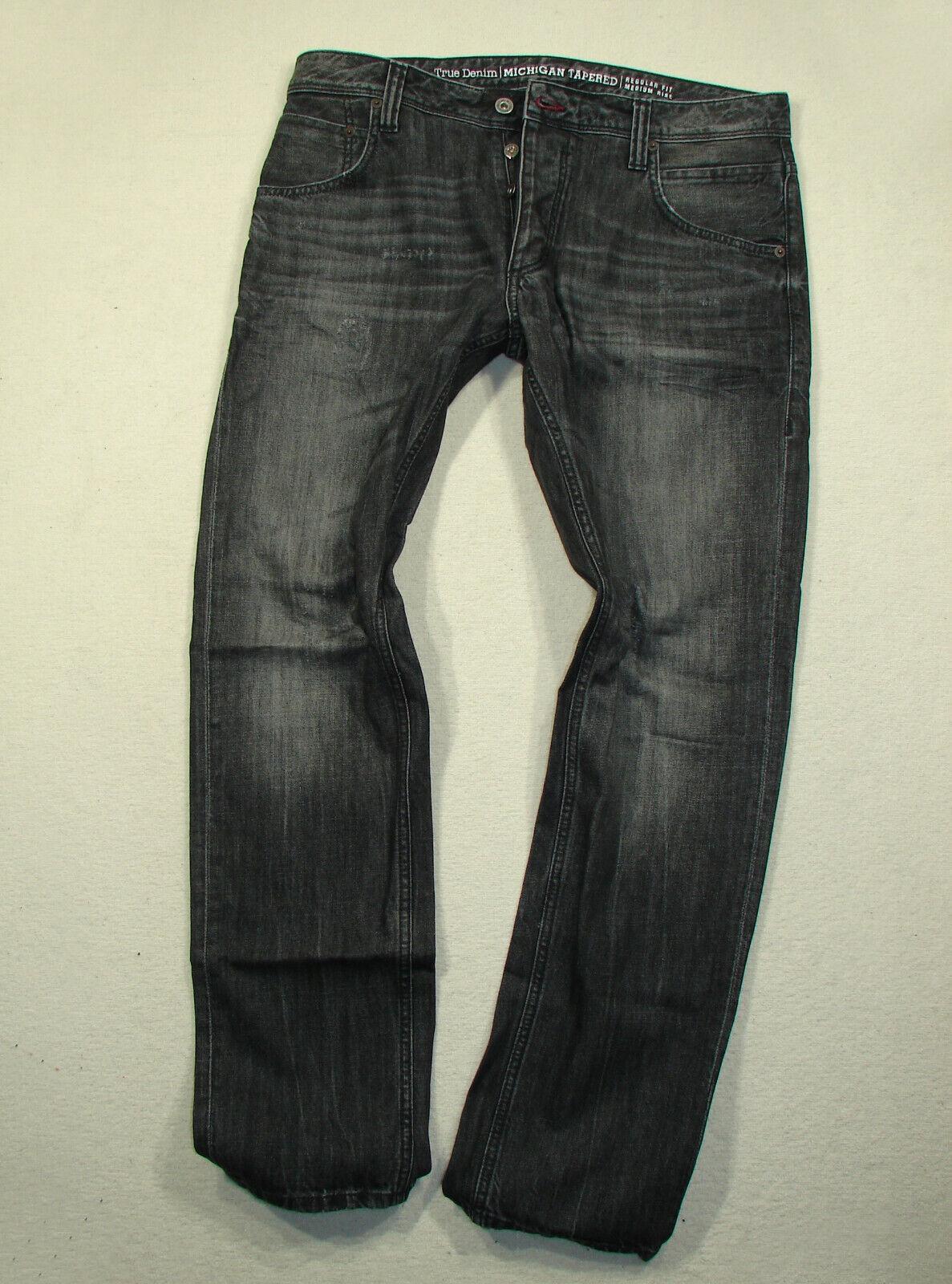 Mustang Michigan Tapered Jeans  Grau   W34/L32  Neu