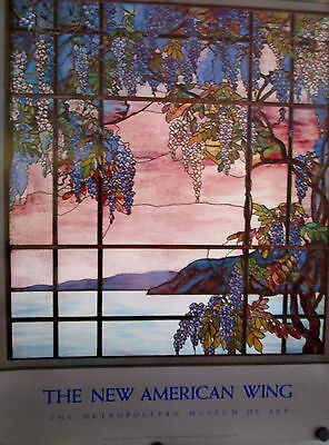 """TIFFANY VIEW OF OYSTER BAY POSTER 32"""" X 24"""" ROLLED MINT CONDITION"""