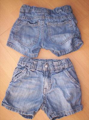 "Zwillinge - Zwei Jeans-Shorts ""Impidimpi"", blau, neuw. Gr.86/92"