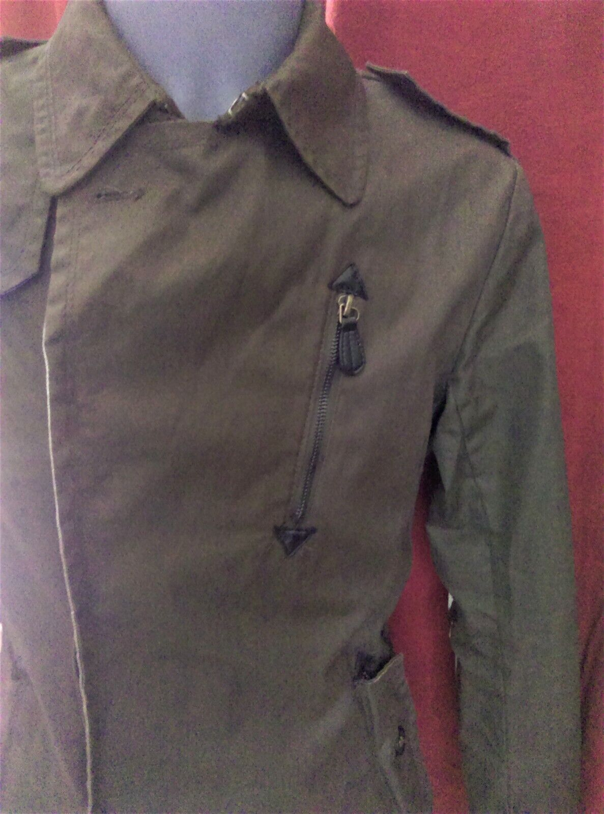 Zara youth - veste/trench  homme marron - taille m