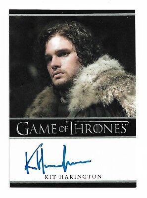2012 Game of Thrones Season 1 Autograph Kit Harington as Jon Snow