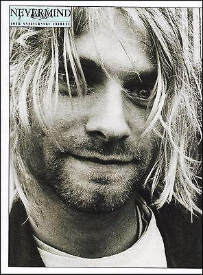 Nirvana Kurt Cobain 8 x 11 b/w close-up pin-up photo ready to frame