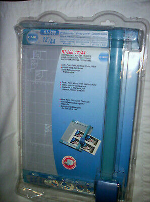 Professional 12 Carl Rotary Trimmer Rt-200 Paper Photos Scrapbook Home Office