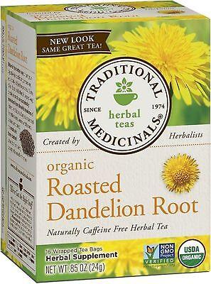 Traditional Medicinals Organic Herbal Tea Bags, Roasted Dandelion Root 16 ea