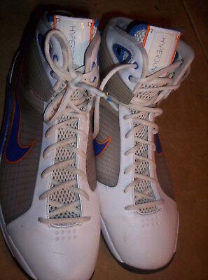 Nike Men's HyperDunk BasketBall Shoes 15M Tan White Navy Clean $100 Retail Mid T