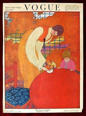 Vogue Magazine Original Cover Only ~ October 15, 1918 ~ Lepape