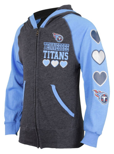 Outerstuff NFL Youth Girls Tennessee Titans Performance Zip