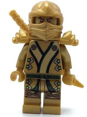 LEGO GOLD LLOYD MINIFIGURE PEARL GOLDEN NINJA NINJAGO FIGURE WITH SWORD