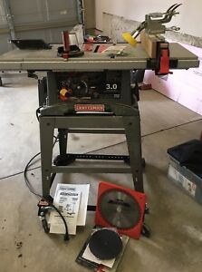 Craftsman Table saw and accessories SOLD