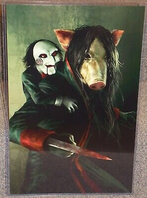 Saw Pig Face & Billy Glossy Art Print 11 x 17 In Hard Plastic Sleeve (Saw Pig)