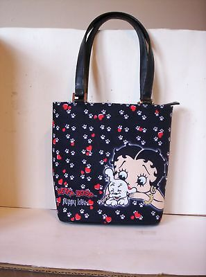 "Betty Boop ""Puppy Love"" Fabric Bag Purse"