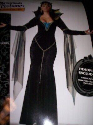 Damen Böse Hexe Königin Kleid Krone Halloween Horror - Böse Karneval Kostüme