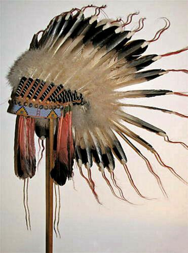 Native American Lakota Sioux Indian Replica Headdress War Bonnet