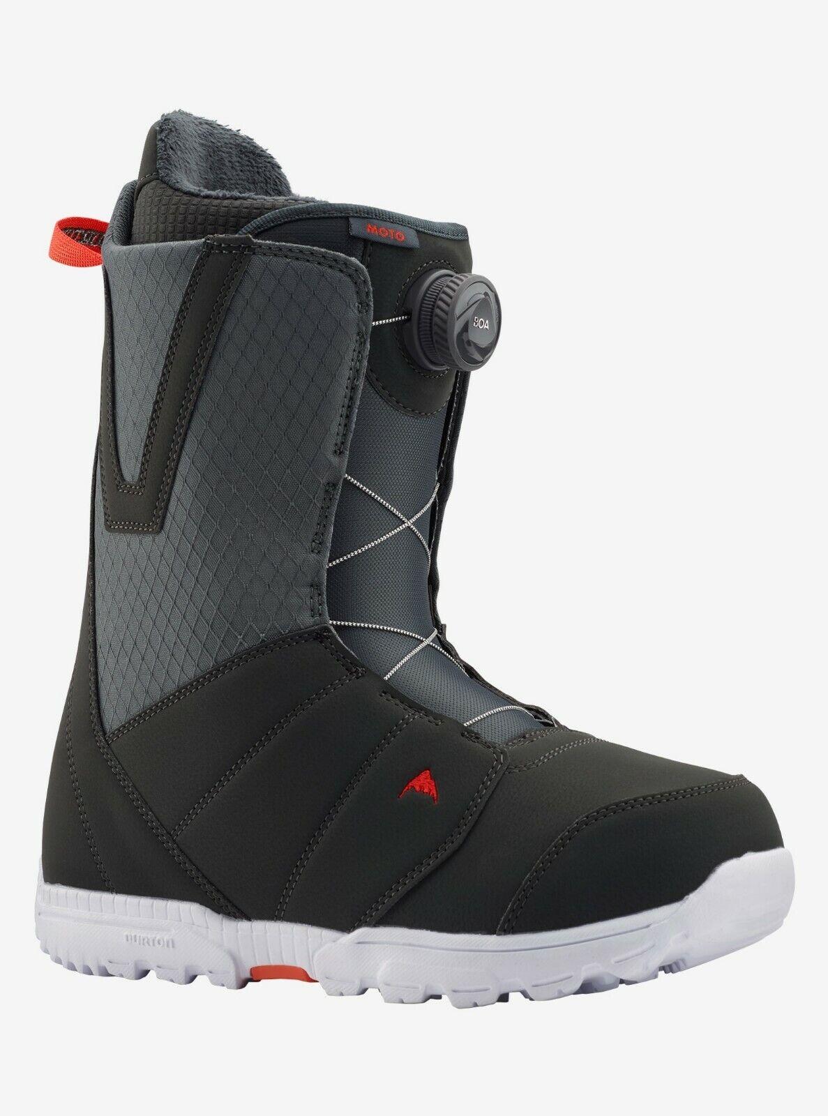 Burton Moto BOA | 2020 - Mens Snowboard Boots | Gray / Red