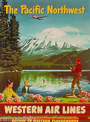 Pacific Northwest Washington United States America Travel Advertisement Poster 7