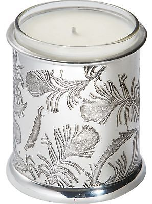 V&A Licensed Peacock Collection - Votive Candle Holder with Feathers & Candle