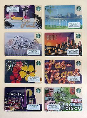 2017 Starbucks Card - San Francisco, Portland, Seattle, Florida, Hawaii, Toronto