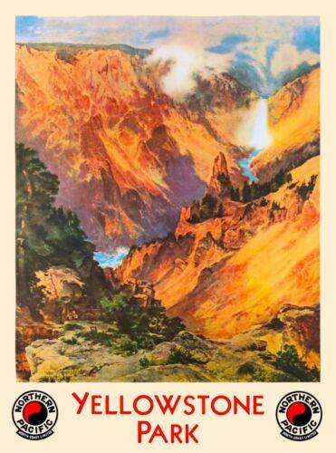 Wyoming Yellowstone National Park USA Travel Advertisement Art Poster Print