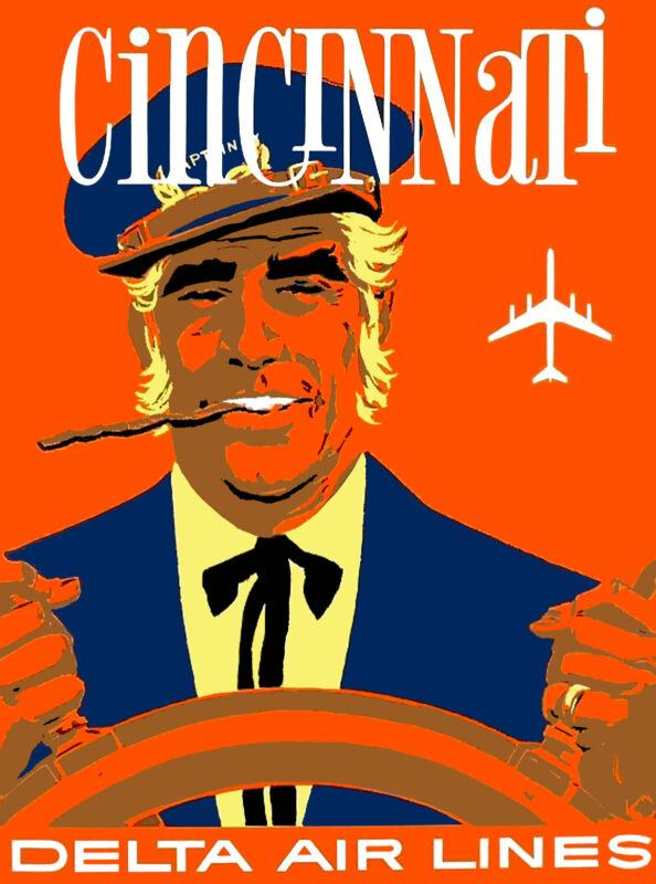 Ohio Cincinnati Captain United States America Travel Advertisement Art Poster
