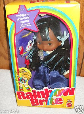 #8667 NRFB Vintage Mattel Rainbow Brite Indigo Doll & Hammy Sprite