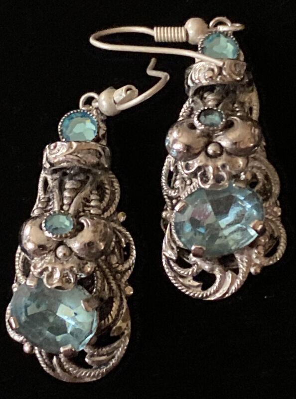 Vintage Art Deco Neiger Czech Earrings