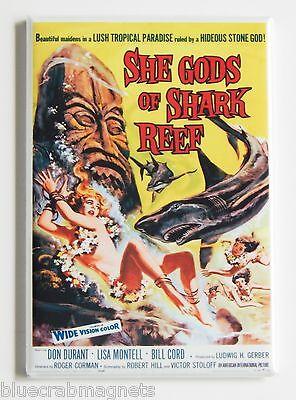 She Gods of Shark Reef FRIDGE MAGNET (2 x 3 inches) movie poster