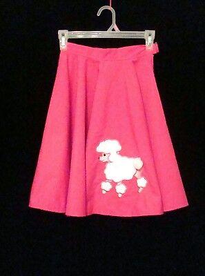 PINK POODLE SKIRT Girls 5/6 Handmade 50's Swing Sock Hop Grease Costume