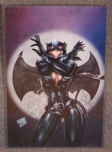 Batman Catwoman Glossy Print 11 x 17 In Hard Plastic Sleeve