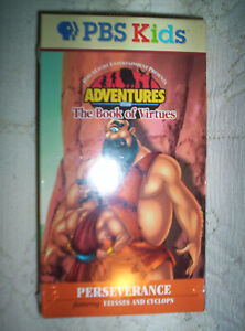 VHS G2 NEW Adventures from the Book of Virtues Perseverance Cyclops Ulysses more