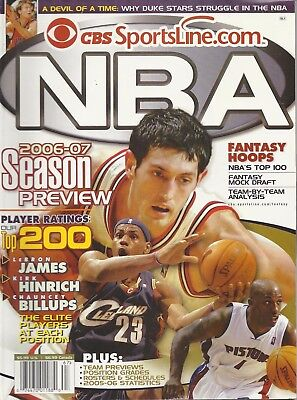 Cbs Sportsline Com Nba 2006   07 Season Preview Fantasy Hoops Magazine   Read
