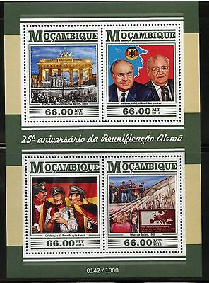 MOZAMBIQUE 2015 25th ANNIVERSARY RE-UNIFICATION OF GERMANY SHT MINT NEVER HINGED