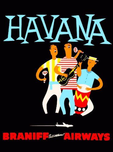Cuba Cuban Havana Habana Caribbean  Travel  Advertisement Poster